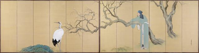 橋本関雪 林和靖図屏風Ss.jpg